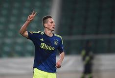 De Liga Legia Warshau Ajax Amsterdam van UEFA Europa Stock Foto's