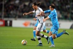 De Liga Legia Warshau SSC Napoli van UEFA Europa Stock Foto