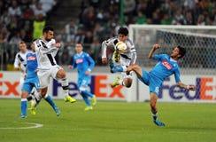 De Liga Legia Warshau SSC Napoli van UEFA Europa Stock Afbeelding