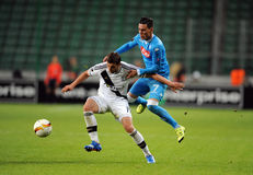 De Liga Legia Warshau SSC Napoli van UEFA Europa Royalty-vrije Stock Afbeeldingen