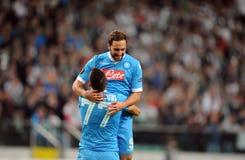 De Liga Legia Warshau SSC Napoli van UEFA Europa Royalty-vrije Stock Foto's