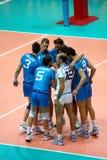 De Liga van de Wereld van het volleyball: Italië versus Cuba Royalty-vrije Stock Afbeelding
