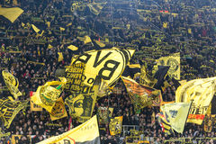 De Ligagelijke van UEFA Europa tussen Borussia Dortmund versus PAOK Royalty-vrije Stock Afbeelding