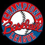 De ligateken van honkbalkampioenen met bal vector illustratie