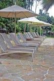 De ligstoelen van de pool Royalty-vrije Stock Fotografie