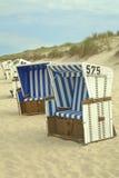 De ligstoelen van Sylt Stock Afbeelding