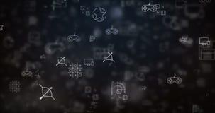 De lijn bewogen achtergrond van videospelletjepictogrammen stock illustratie