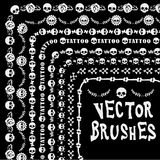 De lijn brushe schedel van de Grungeinzameling royalty-vrije illustratie