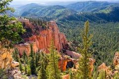 De Lijn Bryce Canyon National Park Utah de V.S. van Navajo Royalty-vrije Stock Foto