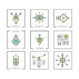 De lijn geeft meetkunde gestalte Alchimie, godsdienst, filosofie, spiritualit royalty-vrije illustratie