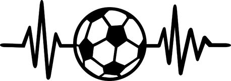 De lijn het Duits van de voetbalhartslag stock illustratie
