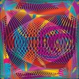 De lijn naadloos patroon van de cirkelwerveling stock illustratie