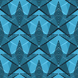 De lijn naadloos patroon van de ster uitstekend symmetrie stock illustratie