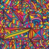 De lijn naadloos patroon van het dooskader Stock Afbeelding