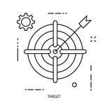 De lijn van de bedrijfs doelillustrator pictogrammen stock afbeelding