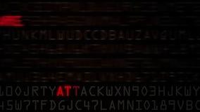 De Lijn van computerbeveiligingmodewoorden stock footage