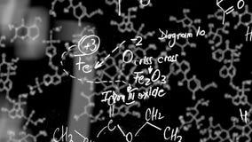 De lijn van de chemievergelijking met alpha- kanaal stock illustratie