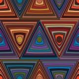 De lijn van de cirkeldriehoek velen naadloos patroon stock illustratie