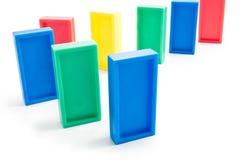 De lijn van de domino stock foto's