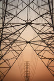 De lijn van de elektriciteitsmacht Stock Foto's