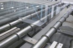 De lijn van de glastransportband Stock Afbeelding