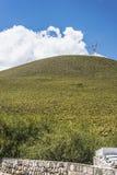 De lijn van de hoogspanningmacht in Tucuman, Argentinië Royalty-vrije Stock Fotografie