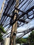 De lijn van de kabel Stock Fotografie