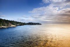 De Lijn van de kust Stock Fotografie
