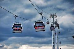 De Lijn van de Lucht van de Emiraten van de Kabelwagen van Theems Stock Afbeeldingen