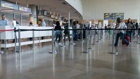 De lijn van de luchthavenveiligheid stock fotografie