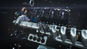 De lijn van de motor van een autoanimatie stock illustratie