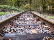 De lijn van de spoorweg Stock Foto