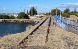 De Lijn van de spoorweg aan nergens Stock Foto