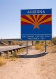 De lijn van de Staat van Arizona stock foto