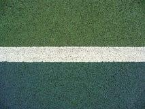 De lijn van de tennisbaan stock afbeelding
