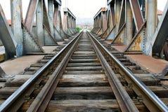 De lijn van de trein kruising Stock Foto's