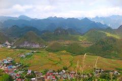 De lijn van Ha Giang, Yen Minh, Noordelijk Vietnam Stock Afbeeldingen