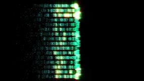De lijn van het gegevensaftasten stock videobeelden