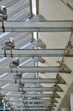 De lijn van het perspectief van de bouw van de staalstructuur Stock Afbeeldingen