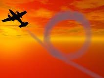 De lijn van het vliegtuig Royalty-vrije Stock Foto's