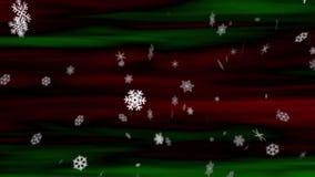 De Lijn van sneeuwvlokken rood-Green stock footage