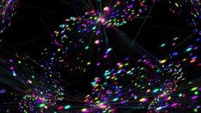De Lijn van Vj van kleurendeeltjes stock video