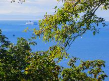 De lijnboot gaat naar een droger dan zwemmend Vancouver 2014 royalty-vrije stock afbeelding
