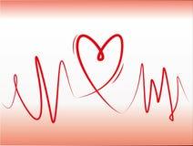 De lijnconcept van het hart Royalty-vrije Stock Foto