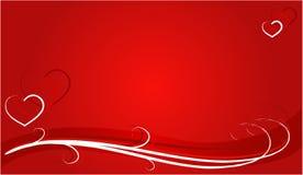 De lijnen van de borstel met harten Stock Foto