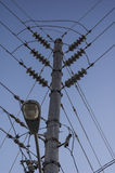 De lijnen van de macht Stock Foto