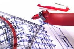 De lijnen van de tekening Stock Fotografie