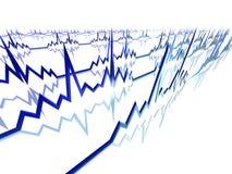 De Lijnen van het electrocardiogram Stock Foto's