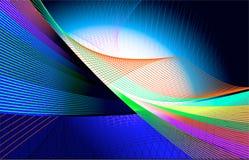De Lijnen van het mengsel op blauwe achtergrond Royalty-vrije Stock Afbeeldingen
