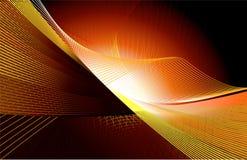 De Lijnen van het mengsel op oranje achtergrond Stock Foto's
